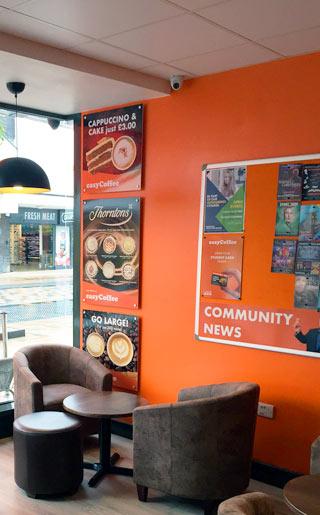 easyCoffee Burnley interior