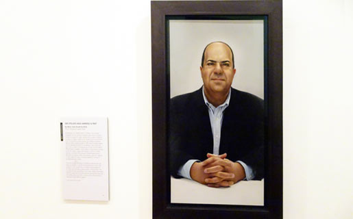 Sir Stelios in National Portrait GallerySir Stelios in National Portrait Gallery